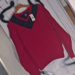 V Neck Cableknit Sweater - NWT